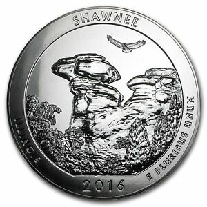 2016 5 OZ SILVER AMERICA THE BEAUTIFUL SHAWNEE NATIONAL FOREST IL.