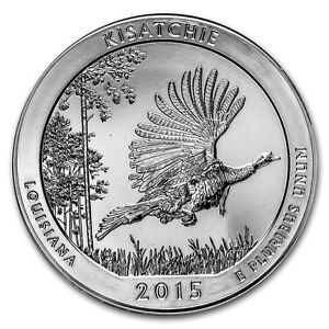 2015 5 OZ SILVER AMERICA THE BEAUTIFUL KISATCHIE NATIONAL FOREST LA