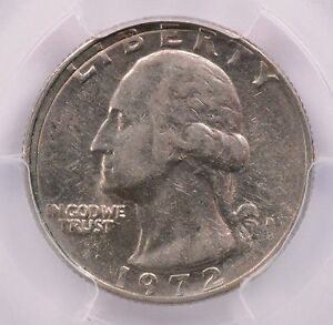 Click now to see the BUY IT NOW Price! PCGS 25C 1972 D WASHINGTON QUARTER INCOMPLETE CLIP AU 53