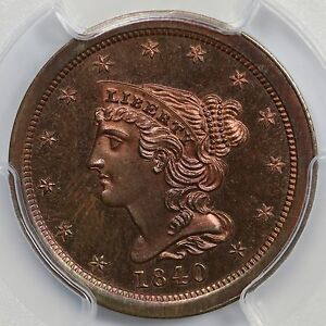 Click now to see the BUY IT NOW Price! 1840 RESTRIKE PCGS PR 65 RB CAC BRAIDED HAIR HALF CENT COIN 1/2C EX; ELIASBERG