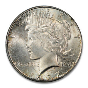 Click now to see the BUY IT NOW Price! 1927 S $1 PEACE DOLLAR PCGS MS65   CAC  2492 16