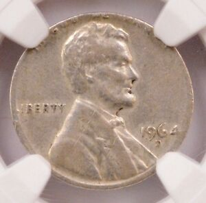 Click now to see the BUY IT NOW Price! NGC 1C 1964 D LINCOLN CENT ON SILVER DIME PLANCHET AU 55