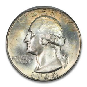 Click now to see the BUY IT NOW Price! 1940 25C WASHINGTON QUARTER PCGS MS67  PQ PLUS TONER