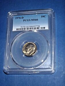 Click now to see the BUY IT NOW Price! 1976 D 10C ROOSEVELT DIME PCGS MS66  357 1