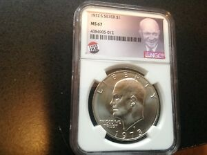 Click now to see the BUY IT NOW Price! 1973 S SILVER EISENHOWER DOLLAR $1 NGC MS67