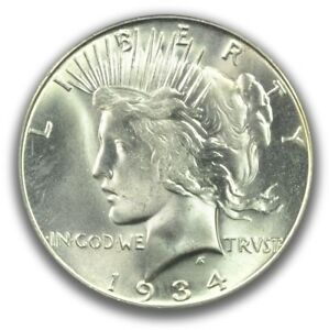 Click now to see the BUY IT NOW Price! 1934 S $1 PEACE DOLLAR PCGS MS65   CAC  PQ MONSTER