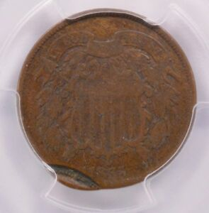 Click now to see the BUY IT NOW Price! PCGS 2C 1865 TWO CENT PIECE DOUBLE STRUCK 2ND STRIKE 95  OFF CENTER VG 8