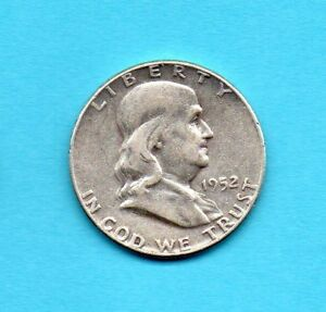 FRANKLIN HALF DOLLAR 90  SILVER 1952