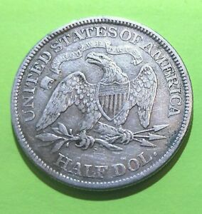 1874 S  ARROWS SEATED UNITED STATES SILVER HALF DOLLAR ONLY MADE FOR 2 YEARS