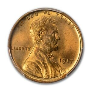 Click now to see the BUY IT NOW Price! 1917 1C DOUBLED DIE OBVERSE LINCOLN CENT   TYPE 1 WHEAT REVERSE PCGS MS66RD PQ