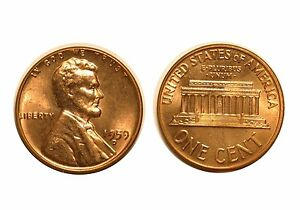 1959 D  LINCOLN CENT   RPM 003 3 CHOICE BU RED  517