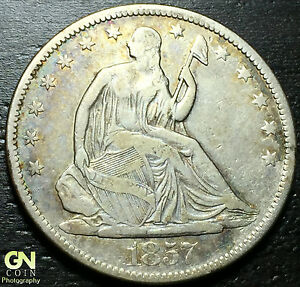 1857 P  SEATED LIBERTY HALF DOLLAR      MAKE US AN OFFER   W3186 ZXCV