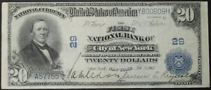 Click now to see the BUY IT NOW Price! 1902 $20.00   NEW YORK   NATIONAL BANK NOTE TWENTY DOLLARS