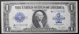 Click now to see the BUY IT NOW Price!  STAR  1923 $1 SILVER CERTIFICATE HORSE BLANKET STAR NOTE