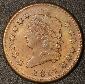 Click now to see the BUY IT NOW Price! 1814 CLASSIC HEAD TURBAN LARGE CENT   BEAUTIFUL HIGHER GRADE EXAMPLE