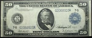Click now to see the BUY IT NOW Price! 1914 $50.00 PANAMA NOTE $50 CHICAGO   BEAUTIFUL EMBOSSING   BOLD SEALS   RARITY