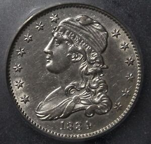 Click now to see the BUY IT NOW Price! 1834 CAPPED BUST SILVER QUARTER ICG AU58   CHOICE ALMOST UNCIRCULATED GEM