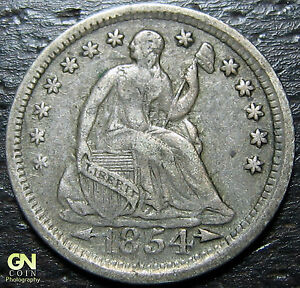 1854 P SEATED HALF DIME      MAKE US AN OFFER   Y7362