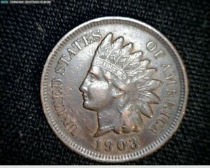 1903  INDIAN HEAD SMALL CENT PENNY A748