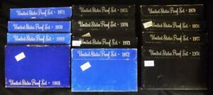 Click now to see the BUY IT NOW Price! UNITED STATES PROOF SETS 1968   1979 SET OF TWELVE  12