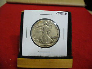 Click now to see the BUY IT NOW Price! 1942 D  WALKER  LIBERTY WALKING  HALF  DOLLAR      50 CENT PIECE   COIN  42D