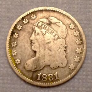 1831 US CAPPED BUST HALF DIME   5 CENTS