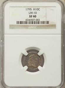 1795 FLOWING HAIR HALF DIME XF40