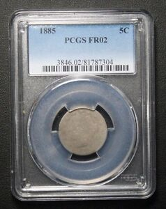 Click now to see the BUY IT NOW Price! 1885 LIBERTY V NICKEL PCGS FR02