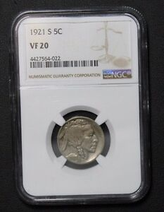 Click now to see the BUY IT NOW Price! 1921 S BUFFALO INDIAN HEAD NICKEL NGC VF20  PRICE REDUCED