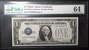 Click now to see the BUY IT NOW Price! 1928 $1.00 FUNNYBACK SILVER CERTIFICATE LEGAL TENDER PMG CU64  PRICE REDUCED