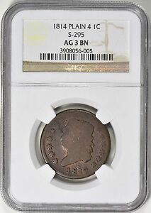 Click now to see the BUY IT NOW Price! 1814 CLASSIC HEAD LARGE CENT NGC AG03 S 295