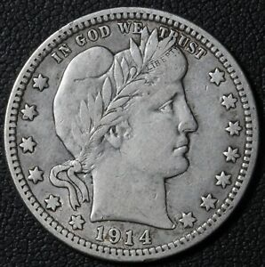 Click now to see the BUY IT NOW Price! 1914 BARBER SILVER QUARTER