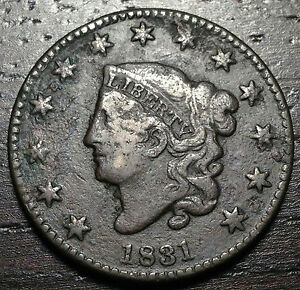 1831 CORONET HEAD LARGE CENT     MAKE US AN OFFER  O3713