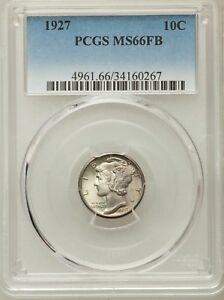 Click now to see the BUY IT NOW Price! 1927 MERCURY SILVER DIME PCGS MS66 66 FULL BAND FB WHITE BLAZER