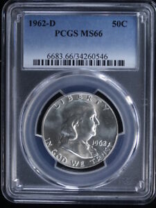 Click now to see the BUY IT NOW Price! 1962 D 50C FRANKLIN HALF DOLLAR 1 PCGS MS66