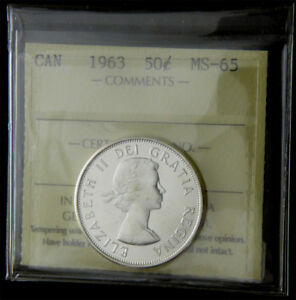 Click now to see the BUY IT NOW Price! CANADA 1963 ELIZABETH LL FIFTY CENTS ICCS MS 65