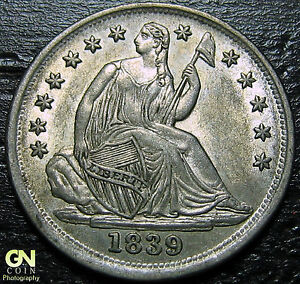 1839 SEATED HALF DIME NO DRAPERY     MAKE US AN OFFER   G4344