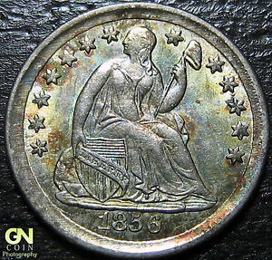 1856 P SEATED HALF DIME  BREEN 3076      MAKE US AN OFFER   G4371