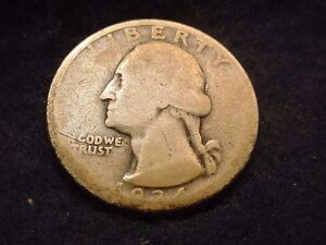 1934 D WASHINGTON QUARTER KEY DATE COIN      1