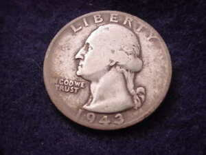 1943 S WASHINGTON QUARTER NICE COIN      10