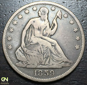 1859 O SEATED LIBERTY HALF DOLLAR      MAKE US AN OFFER   Y9303