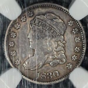 1830 CAPPED BUST HALF DIME NGC XF DETAILS
