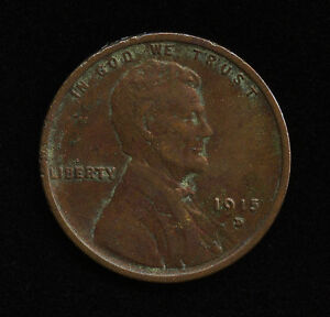 1915 D 1C US LINCOLN ONE CENT WHEAT PENNY TYPE COIN EF XF DETAILS