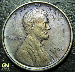 1909 VDB LINCOLN CENT WHEAT PENNY      MAKE US AN OFFER   Y7743