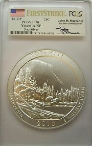 Click now to see the BUY IT NOW Price! 2010 P FIRST STRIKE MERCANTI YOSEMITE AMERICA THE BEAUTIFUL ATB 5 OZ PCGS SP70