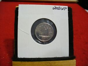 Click now to see the BUY IT NOW Price! 2003 WP  CANADA  DIME  10 CENTS  TOP GRADE  03  PROOF LIKE  SLIGHTY OFF STRUCK