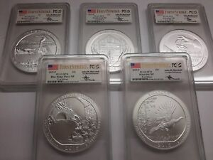 Click now to see the BUY IT NOW Price! 2015 P MERCANTI FIRST STRIKE SET AMERICA THE BEAUTIFUL ATB 5 OZ PCGS SP70 EBUCKS