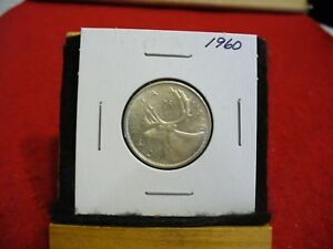 Click now to see the BUY IT NOW Price! 1960  CANADA  SILVER QUARTER  DOLLAR   NICE  GRADE  60 COIN  SEE PHOTOS