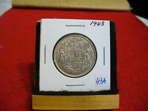Click now to see the BUY IT NOW Price! 1943  CANADA  SILVER  HALF  DOLLAR  50 CENT PIECE   43A    GOOD GRADE