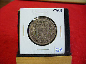 Click now to see the BUY IT NOW Price! 1942  CANADA  SILVER  HALF  DOLLAR  50 CENT PIECE   42A    GOOD GRADE